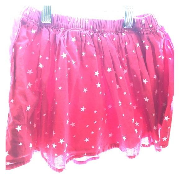 GAP Other - Gap kids flippy flouncy star skirt in red & white